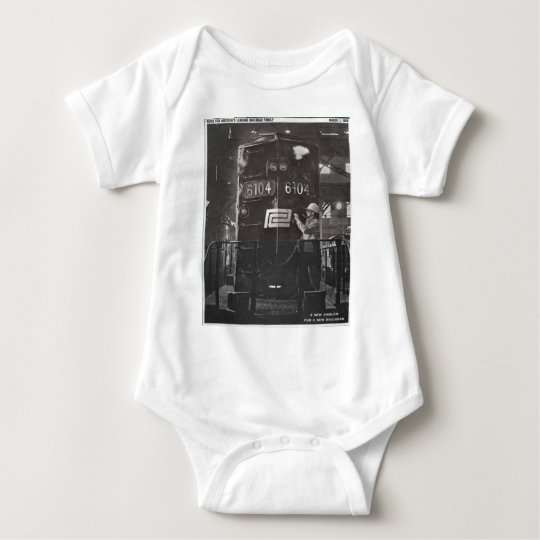 The Birth of The Penn Central Railroad Baby Bodysuit