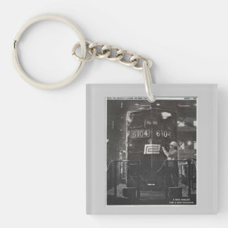 The Birth of The Penn Central Railroad Keychain