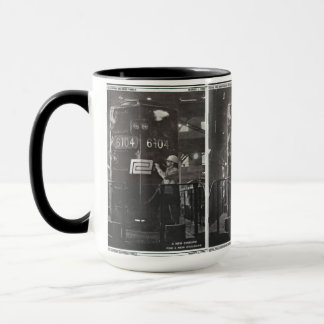 The Birth of The Penn Central Railroad Ringer Mug