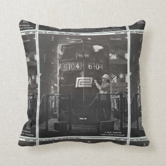 The Birth of The Penn Central Railroad Throw Pillow
