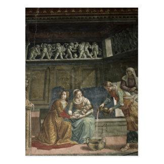 The Birth of the Virgin, 1485-90 Postcard