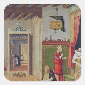 The Birth of the Virgin, 1504-08 Square Sticker