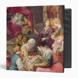 The Birth of the Virgin, 1640 (oil on canvas) 3 Ring Binder