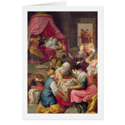 The Birth of the Virgin, 1640 (oil on canvas) Cards