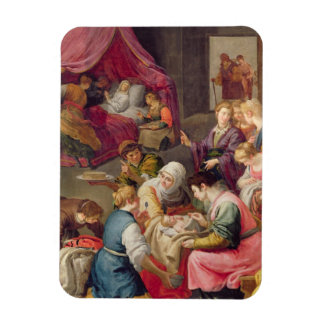 The Birth of the Virgin, 1640 (oil on canvas) Rectangular Photo Magnet