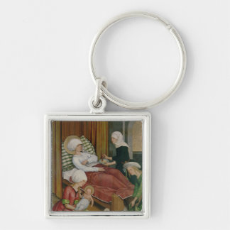 The Birth of the Virgin, c.1500 Keychain