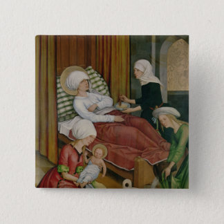 The Birth of the Virgin, c.1500 Pinback Button