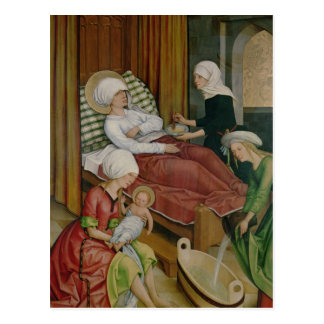 The Birth of the Virgin, c.1500 Postcard