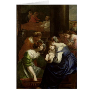 The Birth of the Virgin, c.1620 Card