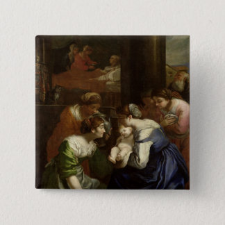 The Birth of the Virgin, c.1620 Pinback Button