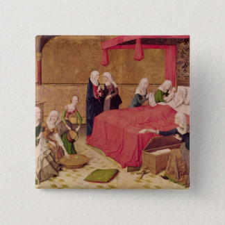 The Birth of the Virgin Pinback Button
