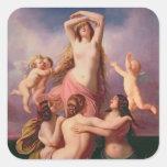 The Birth of Venus, 1846 Square Stickers