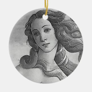 The Birth of Venus - B&W Ceramic Ornament