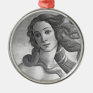 The Birth of Venus - B&W Metal Ornament