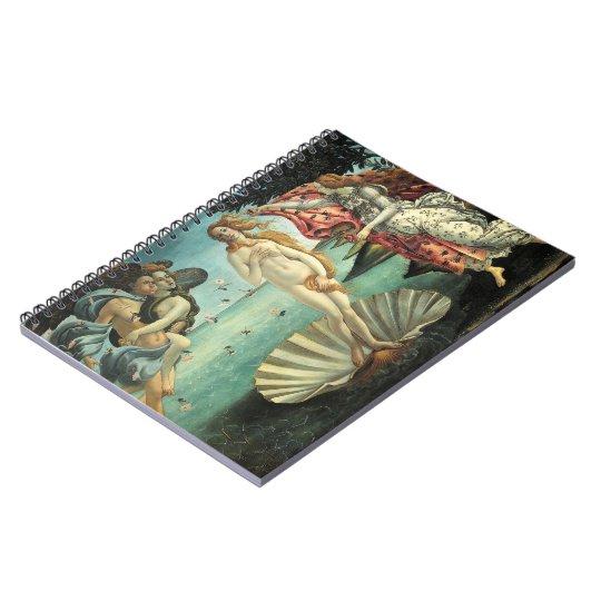 The Birth of Venus Botticelli Spiral Notebook