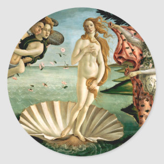 The Birth of Venus by Botticelli Classic Round Sticker