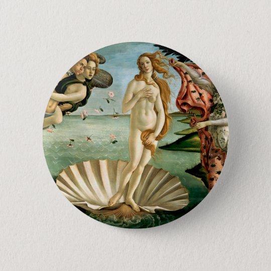 The Birth of Venus by Botticelli Pinback Button