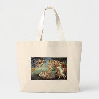 The Birth of Venus by Botticelli, Renaissance Art Jumbo Tote Bag