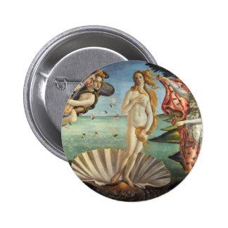 The Birth of Venus by Botticelli, Renaissance Art 2 Inch Round Button