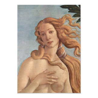 The Birth of Venus by Botticelli, Renaissance Art Card