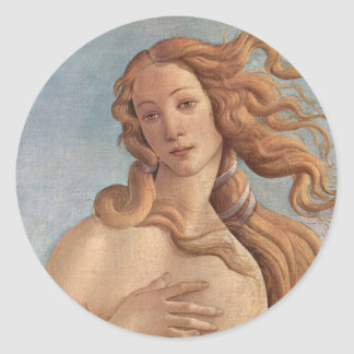 The Birth of Venus by Botticelli, Renaissance Art Classic Round Sticker