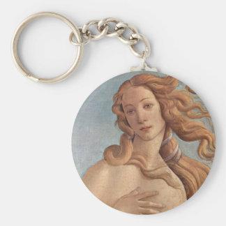 The Birth of Venus by Botticelli, Renaissance Art Keychain