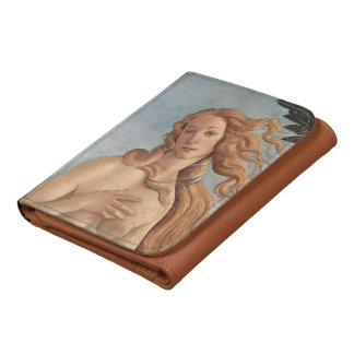 The Birth of Venus by Botticelli, Renaissance Art Leather Wallets
