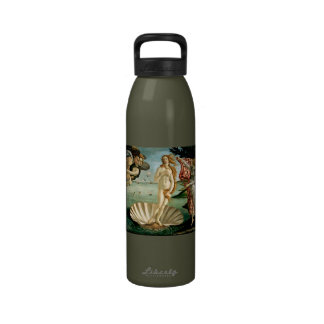 The Birth of Venus by Botticelli Reusable Water Bottles