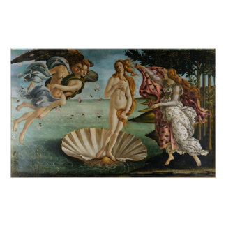 The Birth Of Venus (by Sandro Botiicelli) Poster