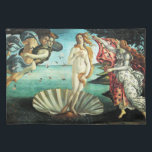 """The Birth of Venus by Sandro Botticelli Cloth Placemat<br><div class=""""desc"""">Please visit my store for more interesting design and more color choice. =&gt;     zazzle.com/iwheels*</div>"""