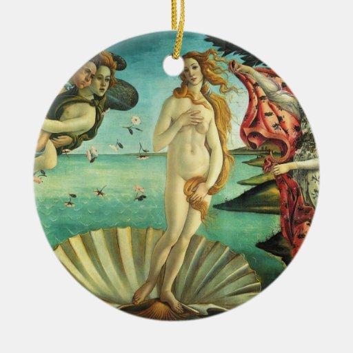 The Birth of Venus by Sandro Botticelli Christmas Tree Ornament