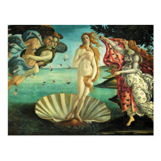 The Birth of Venus by Sandro Botticelli Post Cards