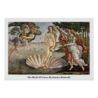 The Birth Of Venus. By Sandro Botticelli Poster