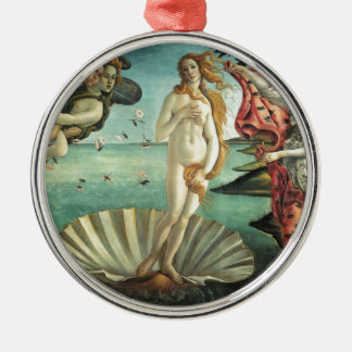 The Birth of Venus - Classic Art by Botticelli Metal Ornament