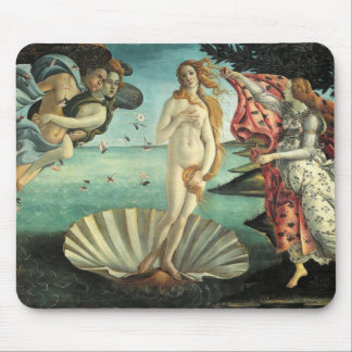 The Birth of Venus - Classic Art by Botticelli Mousepads