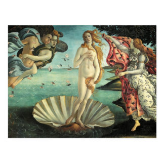 The Birth of Venus - Classic Art by Botticelli Postcard