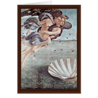 The Birth Of Venus Detail By Botticelli Sandro Greeting Cards