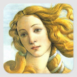 The Birth of Venus - detail Square Sticker