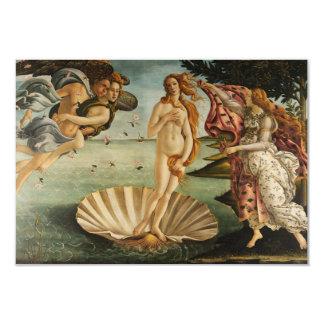"The Birth of Venus 3.5"" X 5"" Invitation Card"