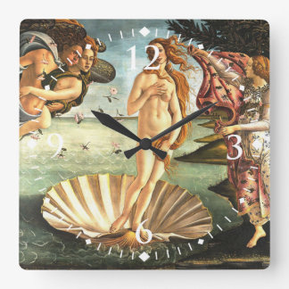 The Birth Of Venus Square Wall Clock