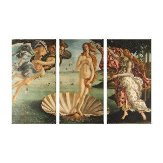 The Birth of Venus (Triptych) Canvas Print