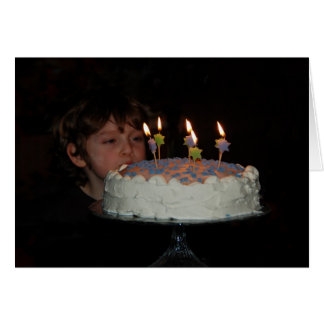 The birthday cake card
