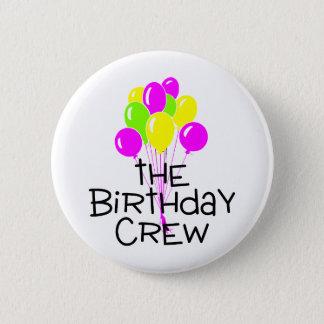 The Birthday Crew Balloons Button