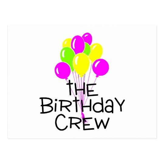 The Birthday Crew Balloons Postcard