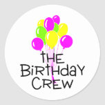 The Birthday Crew Balloons Stickers