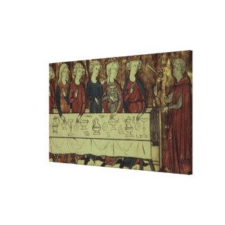 The Birthday Feast of Nubien, King of Armenia Canvas Print