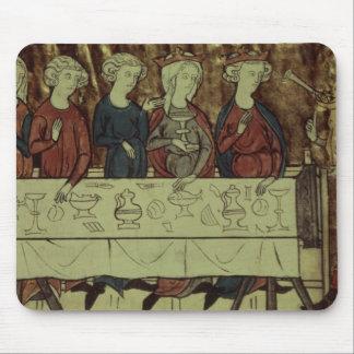 The Birthday Feast of Nubien, King of Armenia Mouse Pad