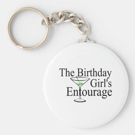 The Birthday Girls Entourage Basic Round Button Keychain