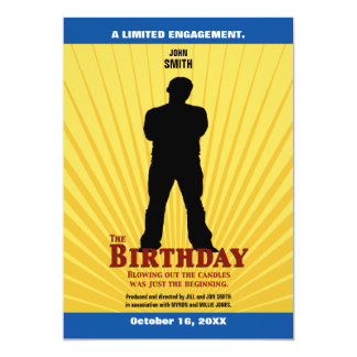 The Birthday Movie Invitation (Boy)