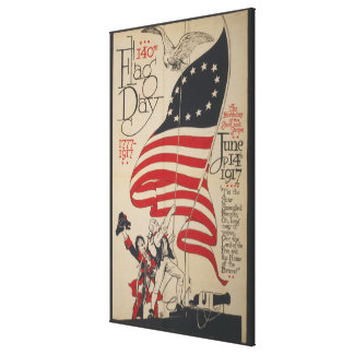 The birthday of the Stars & Stripes 140th flag day Canvas Print